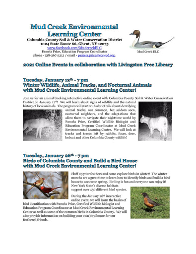 LivingstonLibrary MudCreek 2021 events